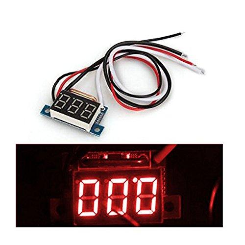 Hrph DC 0-10A Ampere LED Amp Panel Meter 3 Bit-Display No Need Shunt Digital-Amperemeter 30 Volt 3 Ampere