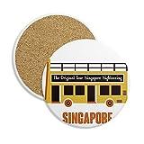 DIYthinker Singapur Turismo de traslado en autobús Coaster la Taza de cerámica Titular de Piedra Absorbente para Regalo Bebidas 2pcs