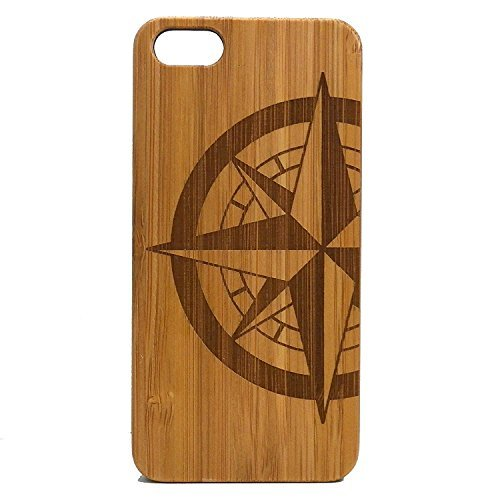 iMakeTheCase Kompass Rose iPhone 7Bambus Fall. Tattoo Nautical Navigation North South East West. Sailor Military. Holz Handy-Cover. -