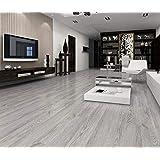 EasyFloor© Zelfklevende PVC vloerplanken tegels grijs wit beige bruin eiken 5 m² per verpakking (grijs gewassen)