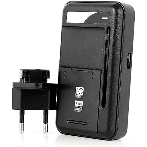 Aukru® Cargador de bateria universal para Samsung galaxy S3 i9300/ S4 i9500/Note 3 N9000/Note 2 N7100/S3 mini / S4 mini ,LG Optimus G /G2 /G3, Nokia /Motorola /HTC Smartphone teléfono - Cargador Externo de Batería con puerto usb (Batería no