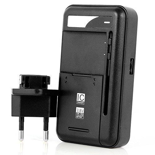Aukru® Cargador de bateria universal para Samsung galaxy S3 i9300/ S4 i9500/Note 3 N9000/Note 2 N7100/S3 mini / S4 mini ,LG Optimus G /G2 /G3, Nokia /Motorola /HTC Smartphone teléfono - Cargador Externo de Batería con puerto usb (Batería no inclus)
