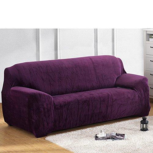 Amazon Felpa Gruesas Elástico Protector para sofás,Color sólido Funda elástica para sofá Sillón Piel Funda para sofá Protector de sofá color puro Para el salón-G Silla