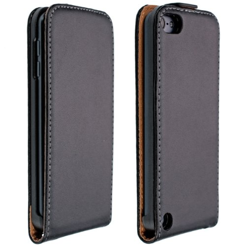 kwmobile Hülle für Apple iPod Touch 5G - Flip Case Fliphülle Schutzhülle Kunstleder Hardecasehülle - Flipcover Hardcase Cover Schwarz