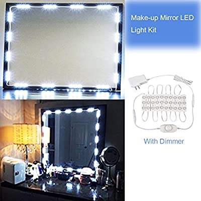 Mirror LED Light Hollywood Style Makeup Mirror Light Kit Dressing Table Light with Power Adapter and Dimmer(30 LEDs, 2m) - low-cost UK light shop.