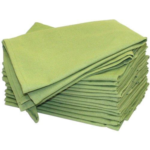 Tante Martha 's 100% Polypropylen Stitch 'em Up gesäumten Farbe Gefärbt Küche Handtücher 45,7x 71,1cm Avocado grün (2Stück), Avocado grün