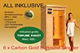 Ivar-1 Topline Große 1 Person Infrarotkabine & Infrarotsauna / 1200 Watt / Infrarot Wärmekabine und viele Extras