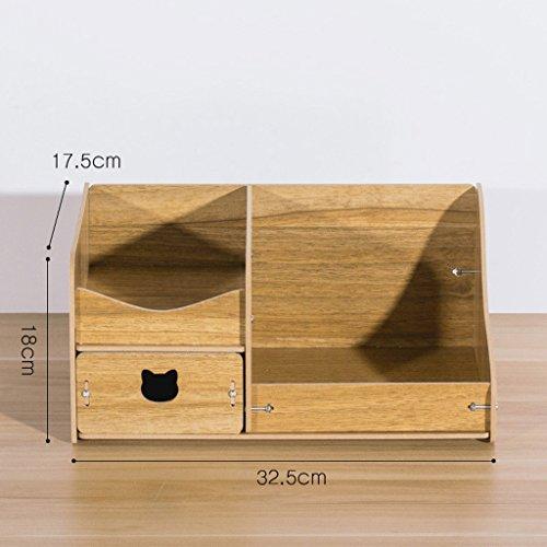 MMM Bureau cosmétique Boîte de rangement Drawer Jewelry Mignon Dresser Skincare Diy en bois étagère Finition ( Couleur : Multi-colored2 )