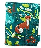 Shagwear Junge-Damen Geldbörse, Small Purse Designs: (Füchse im Wald Petrol/Forest Foxes)