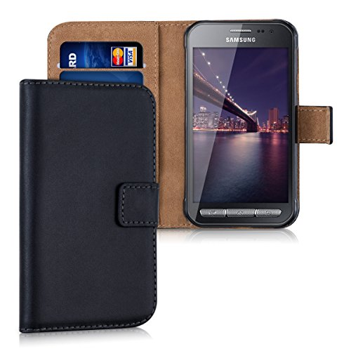 kwmobile Schutzhülle passend für Samsung Galaxy Xcover 3 - aus [Kunstleder] - Case mit [Kartenfächer] in [Schwarz]