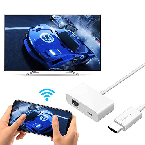 iBosi Cheng WiFi Display Dongle Wireless Display Receiver HDMI Dongle for iOS Android Smartphones Tablets Windows Mac OS Laptops to HDTV Projector Monitor (White) (Video-receiver / Dongle)