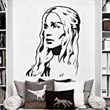 Lkfqjd Hohe Qualität Vinyl Wandkunst Aufkleber Aufkleber Game Of Thrones Wandaufkleber Kunst Home Wand Size58 * 75 Cm