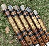 Exquis Bitter flûte de bambou chinoise instruments Dizi 2Sections w/Accessoires