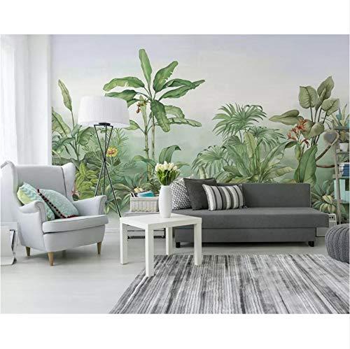 en Aufkleber Wandbilder Wand Hand Gezeichneter Tropischer Regenpflanzebaum Der Tropische Pflanze Wohnzimmer Schlafzimmerhintergrund Kunst Kinder Schlafzimmer (W)300X(H)210Cm ()