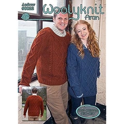 0022 - Andrew - tejiendo cadorabo por Woolyknit |  knit Aran cadorabo | Mens saltador