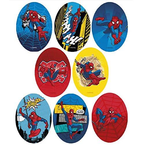 8 parches spiderman rodillera serigrafiados