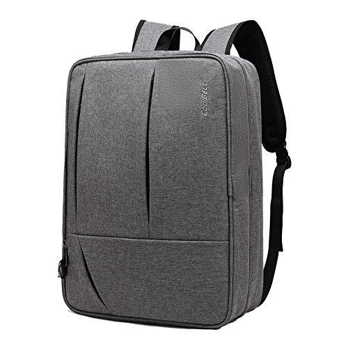 Unbekannt Laptop-Rucksack, multifunktionaler wasserdichter Business-Rucksack, 17-Zoll-Reise-Laptop-Rucksack zum Wandern und im Freien-grey