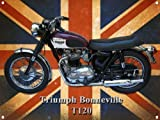 TRIUMPH BONNEVILLE T120 MOTORCYCLE METAL SIGN.