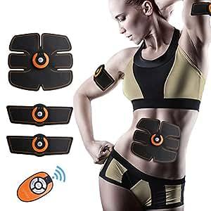 ACTOPP Elettrostimolatore Muscolare Trainer EMS Tonificante Cintura Addominale Muscle Toner Elettronico per Addome Gambe Braccio Vita Portatile senza Fili 10 Intensità