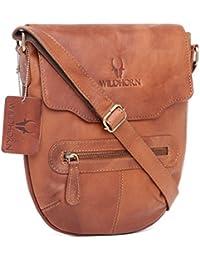 WildHorn 100% Genuine Leather Sling Messenger Bag