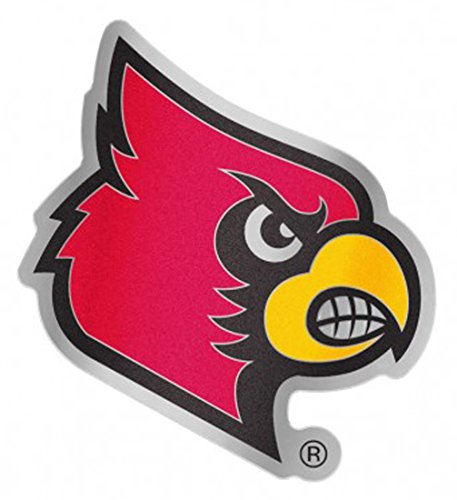 Wincraft University of Louisville Cardinals Auto Badge Aufkleber, hart dünn Kunststoff 9,5x 7,6cm Louisville University