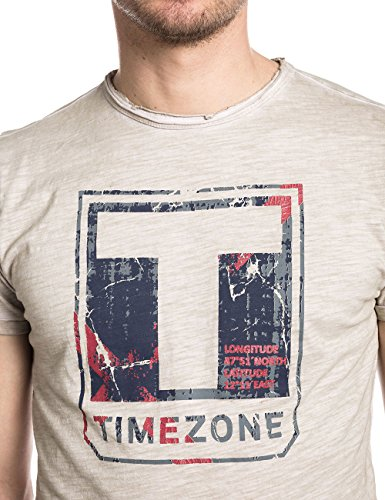 Timezone Herren T-Shirt Terencetz Grau (sliver cream 2089)