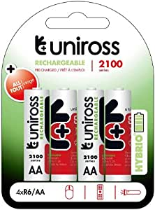 Uniross Habrio 4xR6/AA Rechargeable Batteries 2100mAh