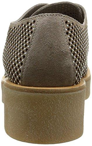 NOW  2745,  Damen Schuhe mit Schnürung Beige - Beige (Velour Sand/Strass Nickel)
