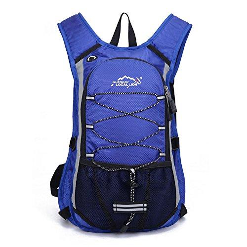 Minetom 12L Unisex Erwachsene Rucksack Camping Wandern Reisen Trekkingrucksäcke Wanderrucksäcke Taktischer Polyester Rainproof Blau