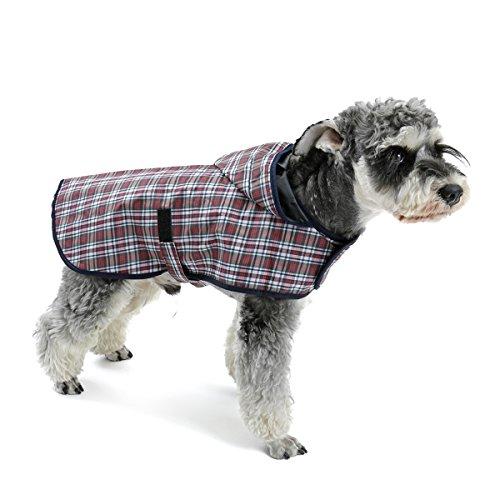 Pawz Road Hund kariert Regenmantel S