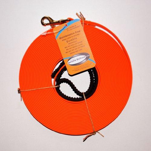 Biothane Schleppleine Orange 19 mm breit 10m