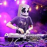 Máscara de DJ Luz LED Disfraz de Halloween Máscara Festival de música Bar Singer Cosplay
