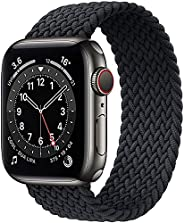 حزام نسج نايلون حزام ساعة أبلSolo Loop Bands Compatible with Apple Watch Band 38mm 40mm 42mm 44mm, Stretchy Si