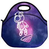 Snoogg Cartoon Cute Fly Travel Outdoor Carry Lunch Bag Picnic Tote Box Container Zip Out Removable Carry Lunchbox Handle Tote Lunch Bag Food Bag For School Work Office