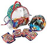 Blaze & Monster Machine - Mochila con Casco Ajustable, Almohadillas incorporadas y Protecciones (Saica 2131)