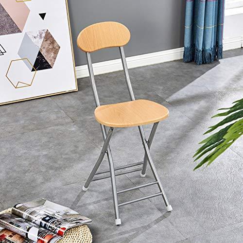 CCSUN Holz Metall Klappstuhl, Vierfach-unterstützung Essstuhl Mit Rücken Computer Stuhl Klapphocker-q H45cm(18inch) -