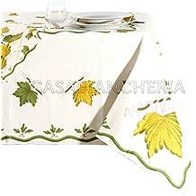 Mantel Impresión romagnola hojas con o sin servilletas
