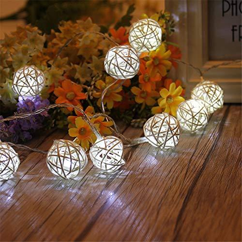 Palle di legno vuote luci delle fate , luci a led per matrimonio, festa, casa, natale, giardino, gazebo, prati e decorazioni
