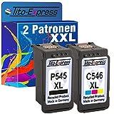 PlatinumSerie® Sparset 2 Patronen XXL für Canon PG-545XL & CL-546XL IP2850 MG2550 MG2500 Series MG2450 MG2400 Series MG2950 MG2455 MG2555 IP2800 Series MG2900 Series
