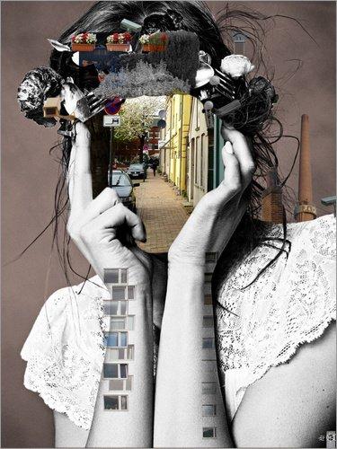 Posterlounge Forex-Platte 100 x 130 cm: Crazy Woman Lara Lisa Bella von Marko Köppe