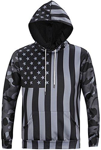 Pizoff Unisex Hip Hop Sweatshirts druck Kapuzenpullover mit Bunt 3D Digital Print Y1760-14