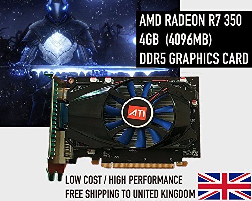Price comparison product image AMD R7 350 4GB (4096MB) DDR5 R7350 Graphics Card 4K HD - NEW - Mining Bitcoin