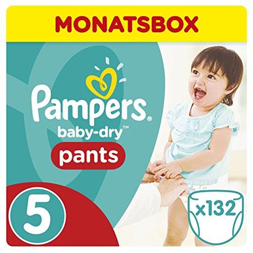 Preisvergleich Produktbild Pampers Baby-Dry Pants, Gr. 5, 12-17 kg, Monatsbox, 1er Pack (1 x 132 Stück)