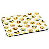 EMOJI SMILEY FACES PC COMPUTER MOUSE MAT PAD - Funny Yellow Kids