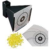 5000 hochwertige, gratfreie Softair BBs Kal. 6 mm 0,12 g + Trichter Kugelfang und 100 original ShoXx.® shoot-club Zielscheiben mit 250 g/m²