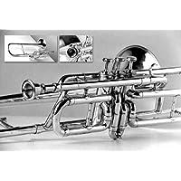 3-Valvola per Trombone tenore in Sib, per tromba Crossover Players. Original, finitura in ottone, con lati & bocchino