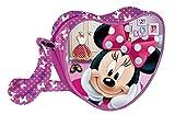 Coriex PINK Bow Disney Minnie Heart Schultertasche Kinder-Sporttasche, 18 cm, Multicolor