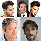 Toupee Pelucas Para Hombres Q6 Base Toupee Replacement Pelucas Nudos Blanqueados Invisible Naturale Looking - Para El Cabello Humano Indio #1B (Off Negro)