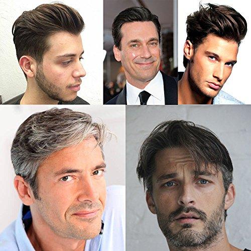 AIRAO Alle Lace Toupee Toupet Haarteil Ersatz Männer Perücken Gebleichte Knoten Unsichtbar Natürlich Aussehende - Indische Menschliche Haar #22R(Mittelblond)