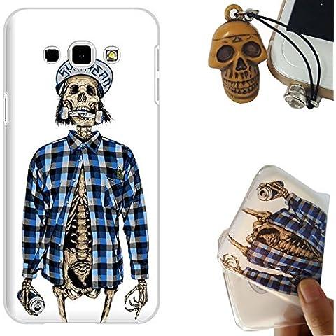 Samsung Galaxy A8 Custodia, Rockconcept Flessibile TPU Gel Silicone Protettivo Skin Custodia Case Cover per Samsung Galaxy A8 (Camicia cranio) [Con Spina di Polvere Libera]